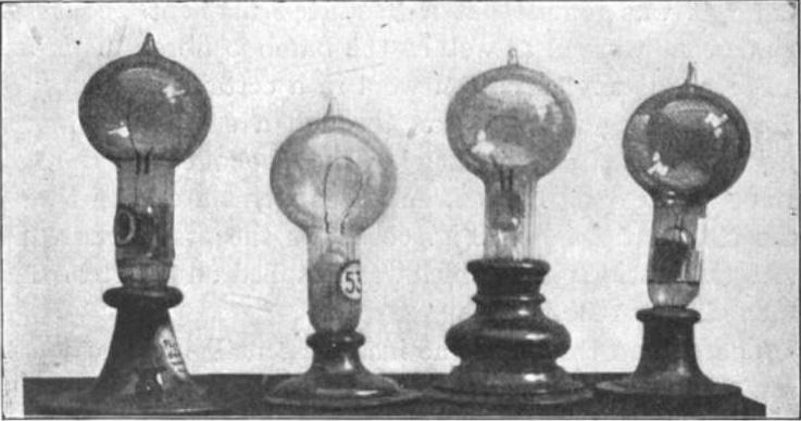 Edisons Prototypen einer Glühbirne